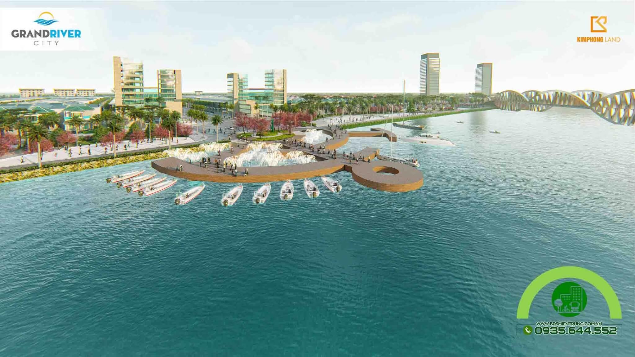 Bến du thuyền ngay trong khu đô thị Grand River City