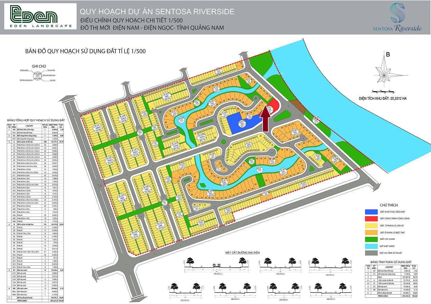 (Đã bán) Biệt thự Sentosa Riverside, ngay cạnh Cocobay và ven sông