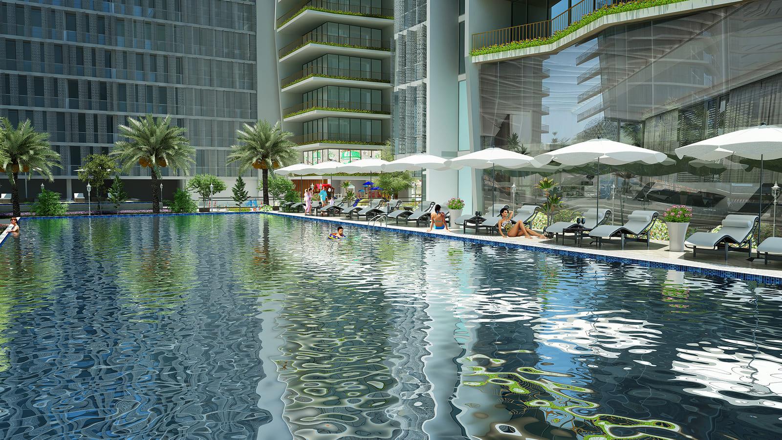 Bể bơi ngay trên sân thượng tại dự án Ánh Dương Soleil Đà Nẵng