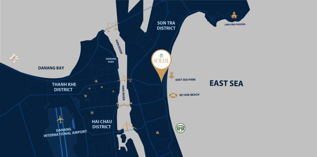 Vị trí dự án Wynham Soleil Đà Nẵng trên maps