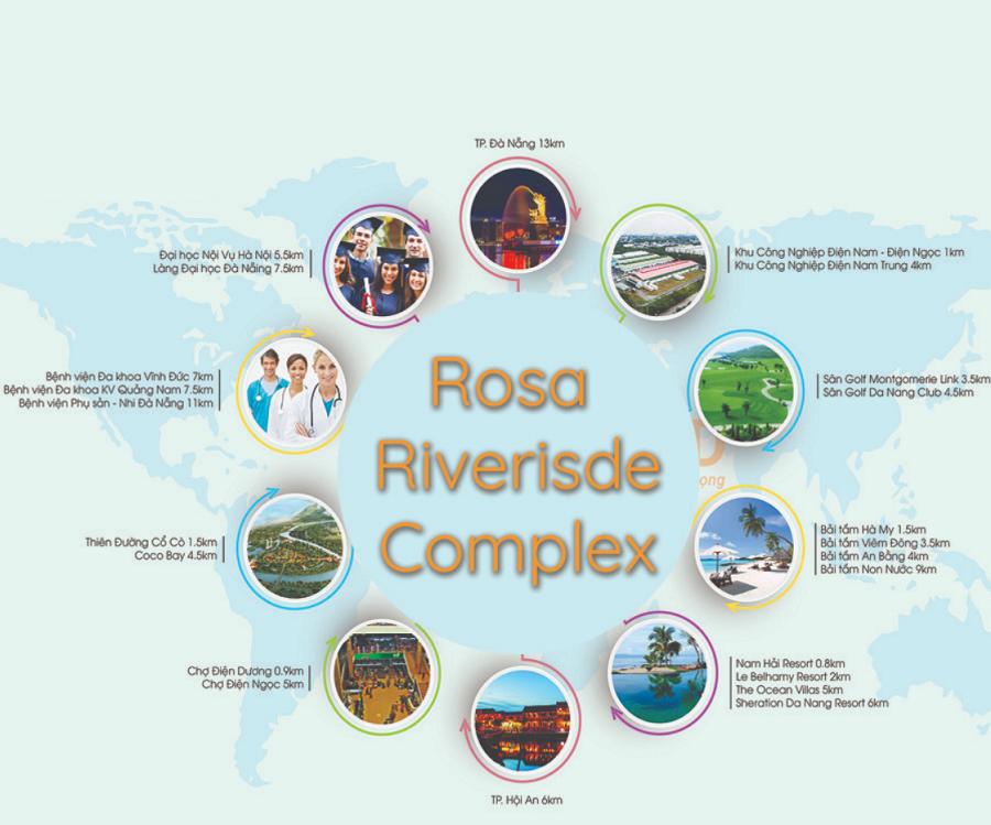 Tiện tích dự án Rosa Riverside Complex Da Nang